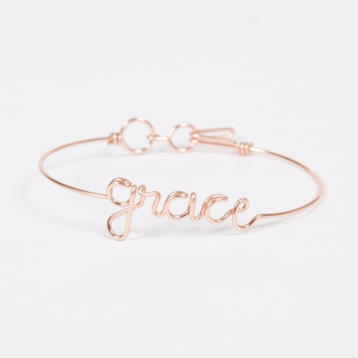 Bracelet Name - Rose Gold