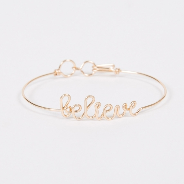 believe yellow gold permanent bangle bracelet studio emoi