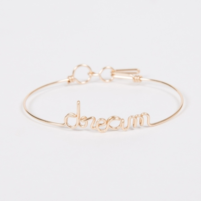 dream yellow gold permanent bangle bracelet studio emoi