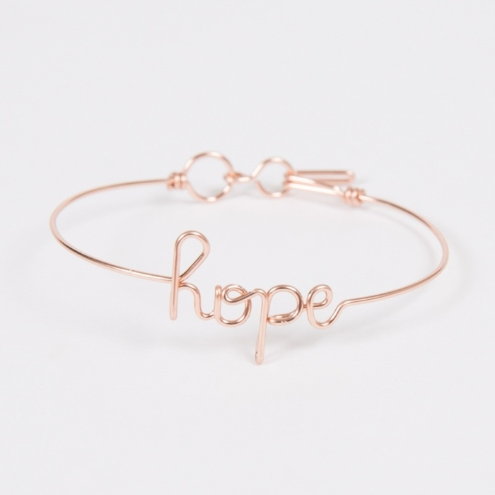 hope rose gold custom bangle bracelet studio emoi