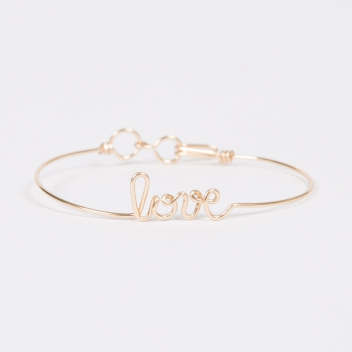 love yellow gold permanent bangle bracelet studio emoi