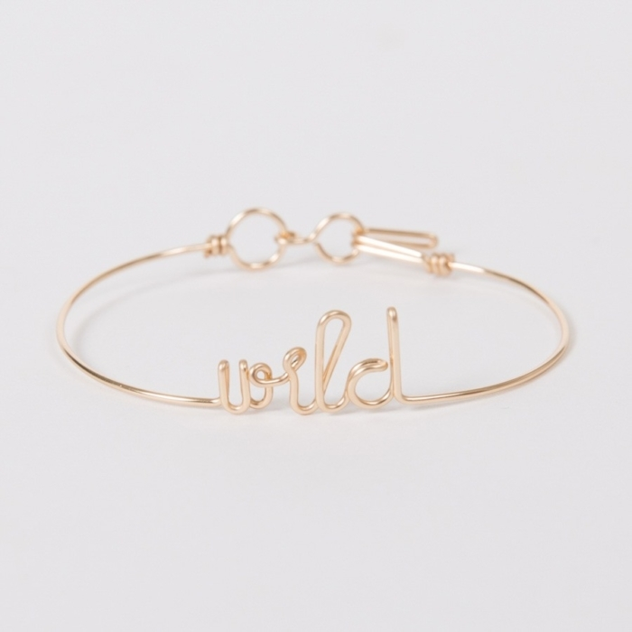 wild yellow gold custom bangle bracelet studio emoi