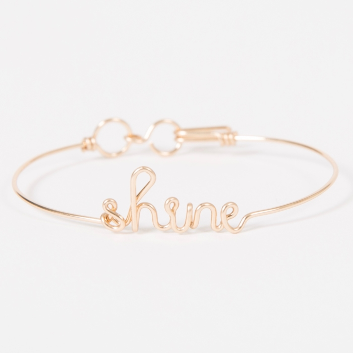Shine bangle bracelet - 14K yellow gold