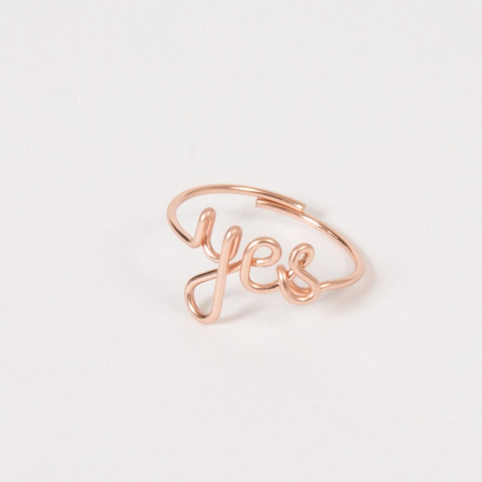 Yes ring - 14K rose gold