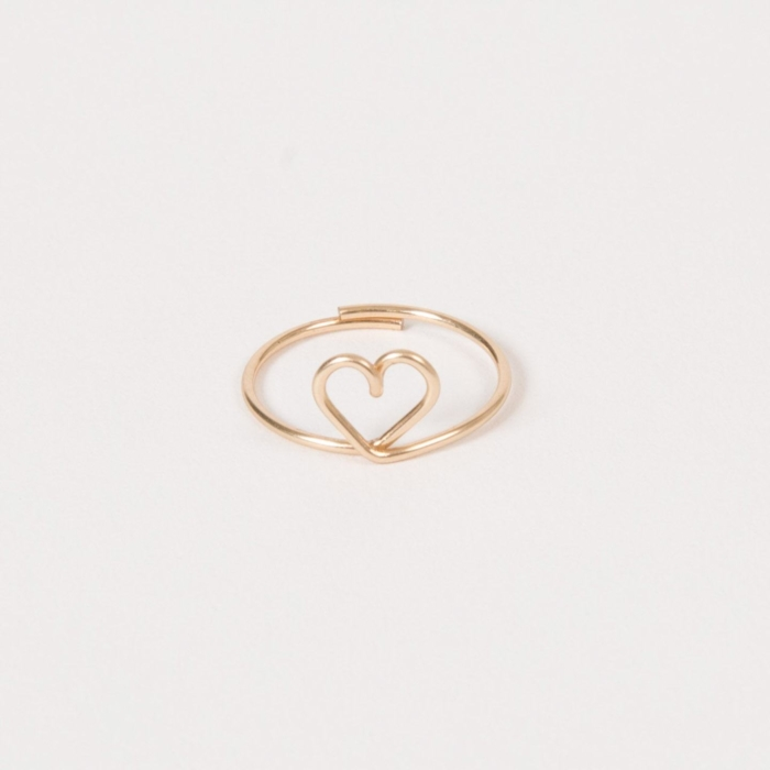 Heart ring - 14K yellow gold filled