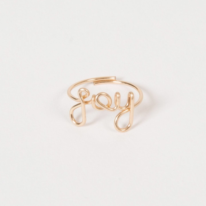 Joy ring - 14K yellow gold