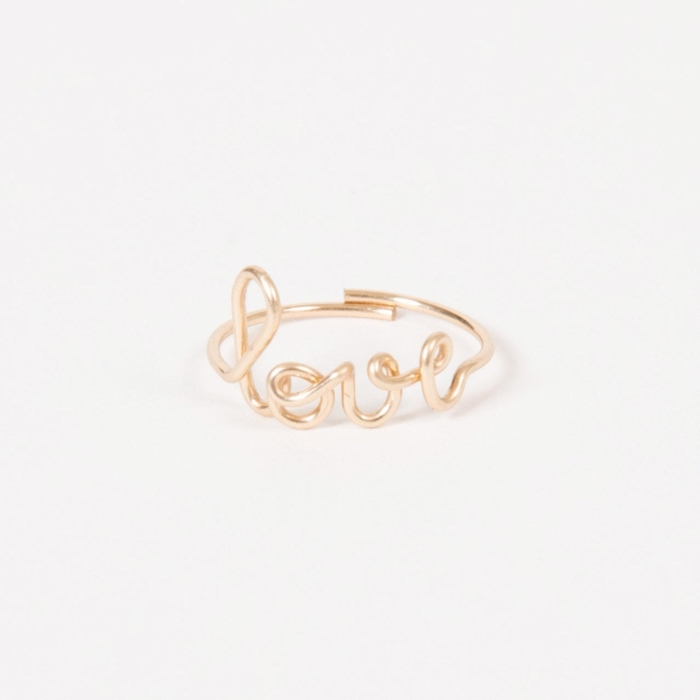 Love ring - 14K yellow gold filled