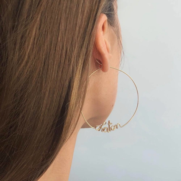 Studio Emoi - Earrings - Customised hoop yellow gold