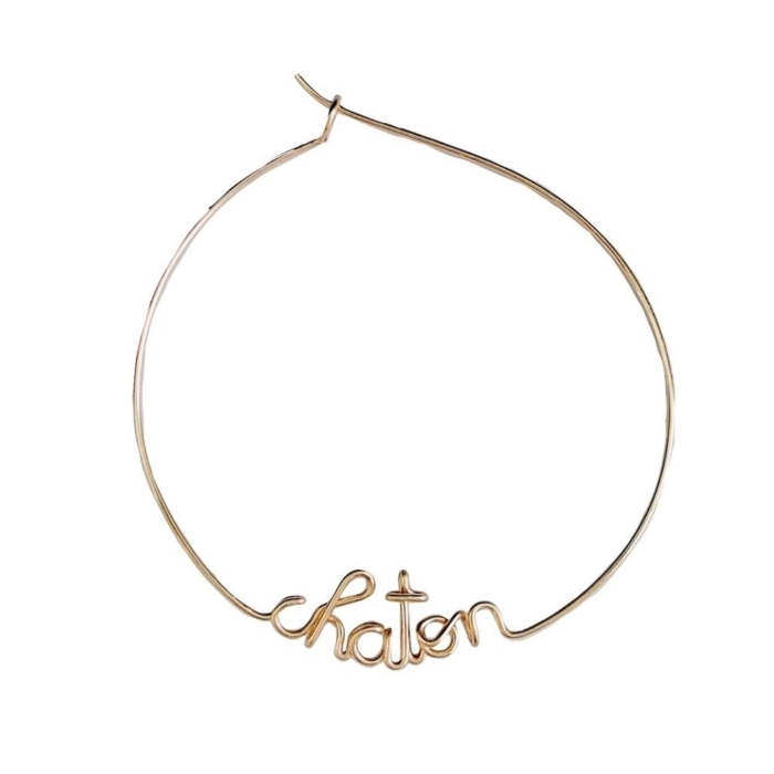 chaton yellow gold custom hoop earrings studio emoi singapore